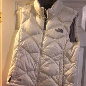 Northface puffy white vest